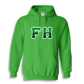 FarmHouse Fraternity Two Tone Greek Lettered Hooded Sweatshirt