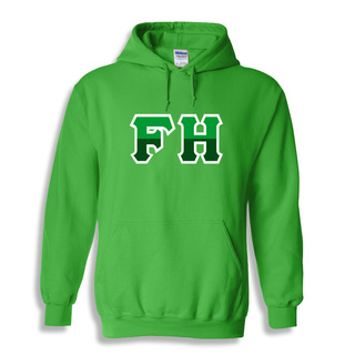 FarmHouse Fraternity Two Tone Greek Lettered Hooded Sweatshirt