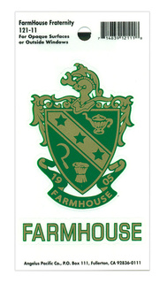FarmHouse Fraternity Water Slide Decal