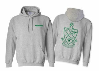 FarmHouse Fraternity World Famous Crest Hooded Sweatshirt- $35!