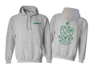 FarmHouse Fraternity World Famous Crest - Shield Hooded Sweatshirt- $35!