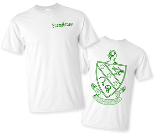 FarmHouse Fraternity World Famous Crest - Shield Tee