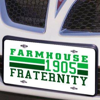 FARMHOUSE Year License Plate Cover