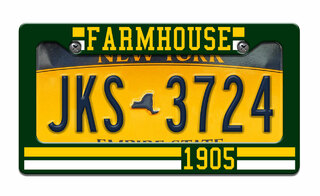 FARMHOUSE Year License Plate Frame