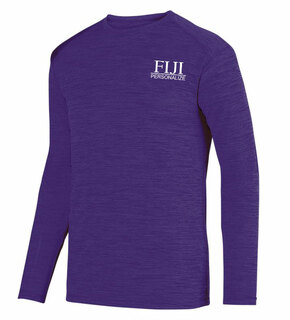 FIJI Fraternity- $20 World Famous Dry Fit Tonal Long Sleeve Tee