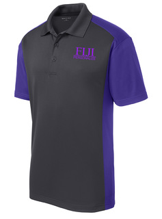 FIJI Fraternity- $30 World Famous Greek Colorblock Wicking Polo