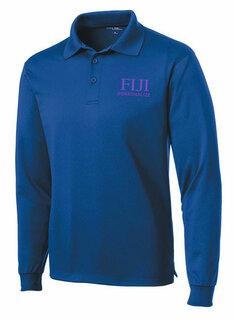 FIJI Fraternity- $35 World Famous Long Sleeve Dry Fit Polo