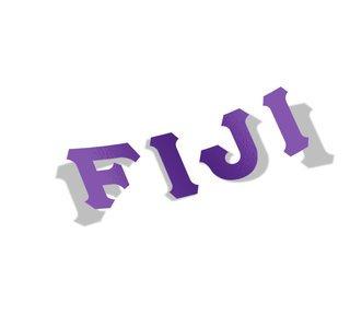 FIJI Fraternity Big Greek Letter Window Sticker Decal