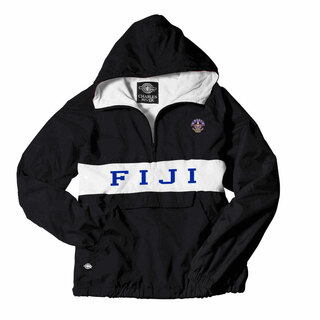 FIJI Fraternity Charles River Custom Stripe Greek Pullover Anorak