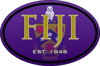 FIJI Fraternity Color Oval Decal