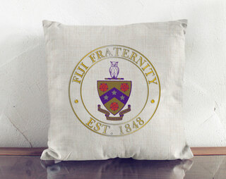 FIJI Crest Linen Pillow
