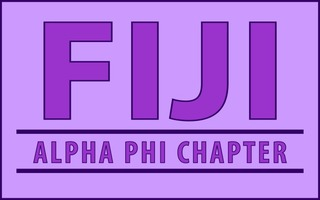 FIJI Fraternity Custom Line Sticker Decal