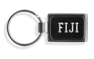 FIJI Fraternity Engraved Chrome Keychains
