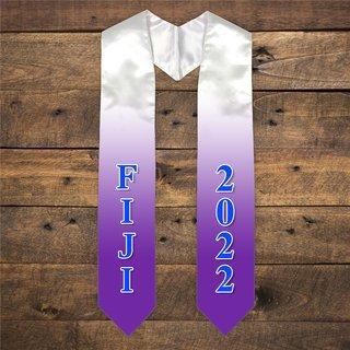 FIJI Extra Fancy Greek Graduation Stole W Year