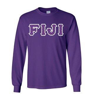 FIJI Fraternity Crest - Shield Twill Letter Longsleeve Tee