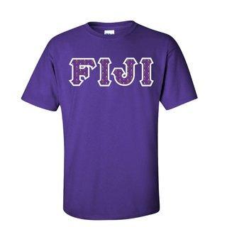 FIJI Fraternity Crest - Shield Twill Letter Tee