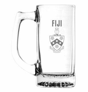 FIJI Fraternity Glass Engraved 25 Ounce Mug