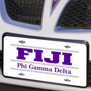 FIJI Fraternity Lettered Lines License Cover
