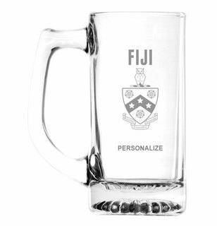 FIJI Fraternity  Glass Engraved Mug