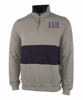 FIJI Greek Letter Quad Pullover