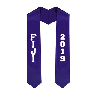 FIJI Greek Lettered Graduation Sash Stole With Year - Best Value