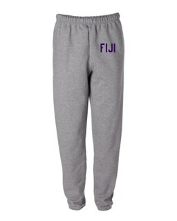FIJI Greek Lettered Thigh Sweatpants