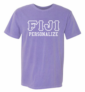FIJI Greek Outline Comfort Colors Heavyweight T-Shirt