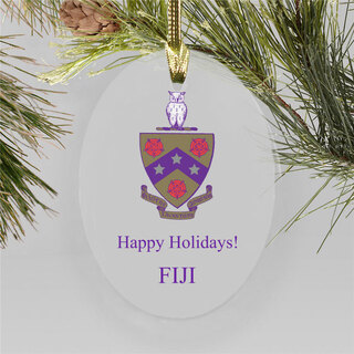 FIJI Fraternity Holiday Color Crest - Shield Ornament