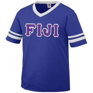 DISCOUNT-FIJI Fraternity Jersey With Custom Sleeves