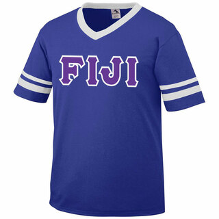 DISCOUNT-FIJI Fraternity Jersey With Greek Applique Letters