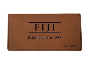 FIJI Fraternity Leatherette Checkbook Cover