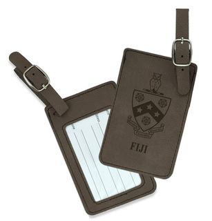 FIJI Fraternity Crest Leatherette Luggage Tag