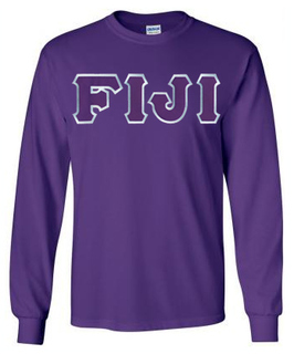 FIJI Fraternity Lettered Long Sleeve Tee- MADE FAST!