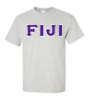 FIJI Fraternity Sewn Lettered T-Shirt