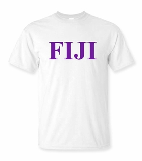 FIJI Fraternity Lettered Tee - $9.95! - MADE FAST!