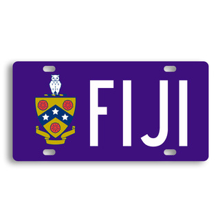 FIJI Fraternity License Cover