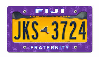 FIJI Fraternity License Plate Frame