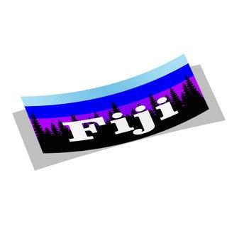 FIJI Mountain Decal Sticker