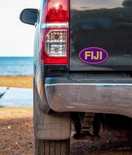 FIJI Oval Fraternity Car Magnet Set of 2