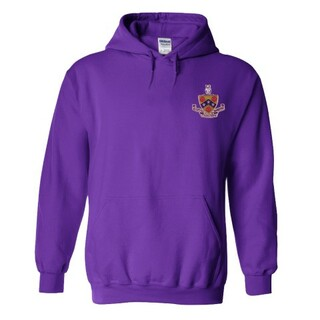 DISCOUNT-FIJI Fraternity Crest - Shield Emblem Hooded Sweatshirt