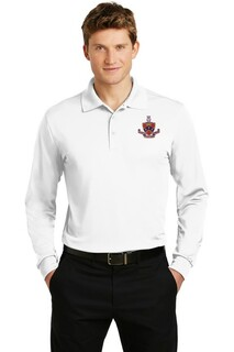 DISCOUNT-FIJI Fraternity Emblem Long Sleeve Polo