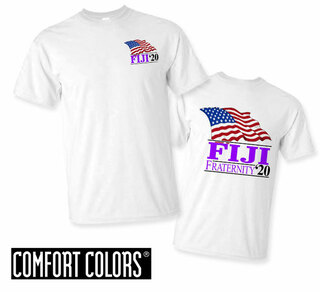 FIJI Fraternity Patriot  Limited Edition Tee - Comfort Colors