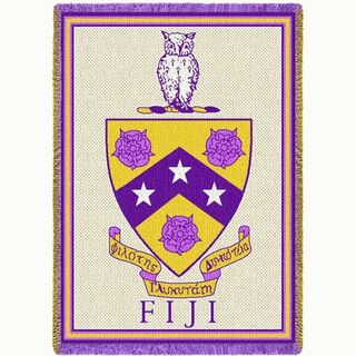 FIJI Fraternity - Phi Gamma Delta Afghan Blanket Throw