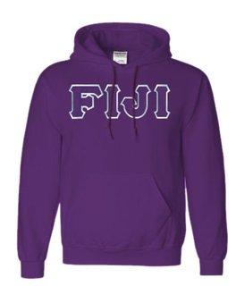FIJI Fraternity Sewn Lettered Sweatshirts