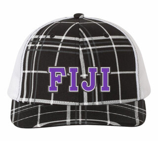 FIJI Plaid Snapback Trucker Hat - CLOSEOUT