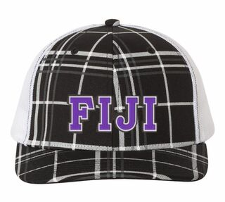FIJI Plaid Snapback Trucker Hat