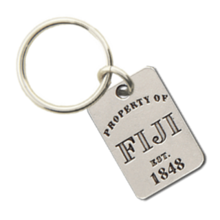 FIJI Property of Tag Keychain - CLOSEOUT