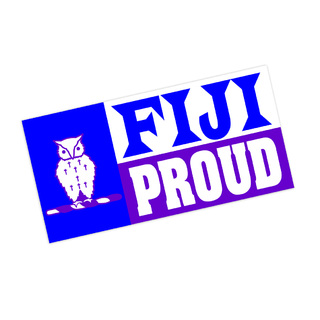 FIJI Fraternity Proud Bumper Sticker - CLOSEOUT