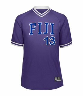FIJI Retro V-Neck Baseball Jersey
