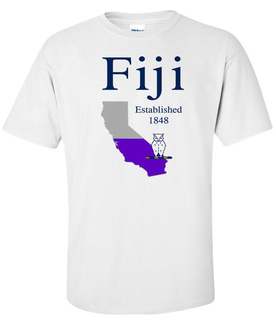 FIJI Fraternity State Flag T-shirt